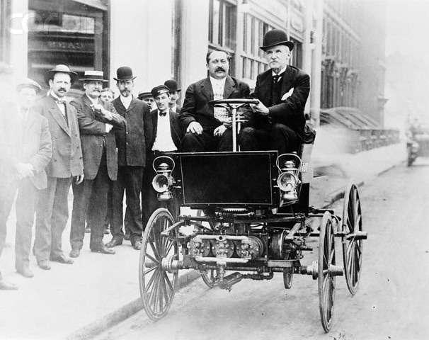 George B.Selden Driving Automobile