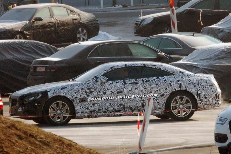 Mercedes-Benz S-class Coupe test prototype side view_no_copyright