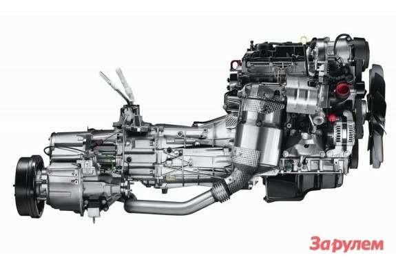 2.2-liter diesel engine with transmission