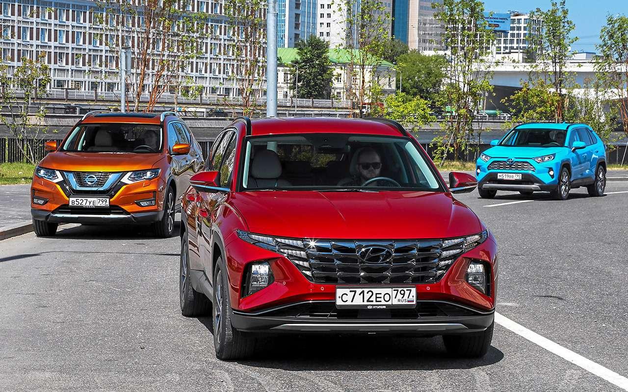 Hyundai Tucson, Toyota RAV4, Nissan XTrail  тест в цифрах