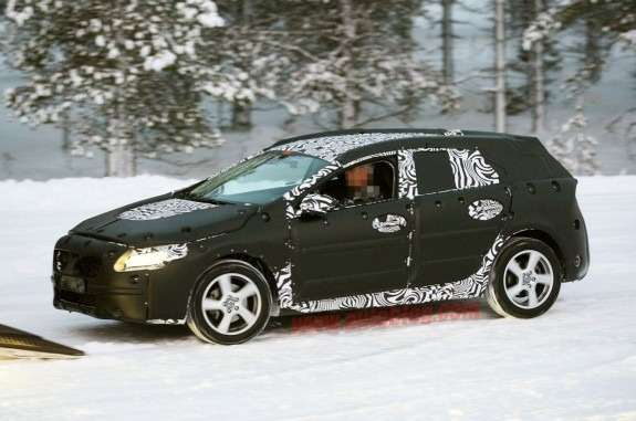 Volvo V30 test prototype side-front view