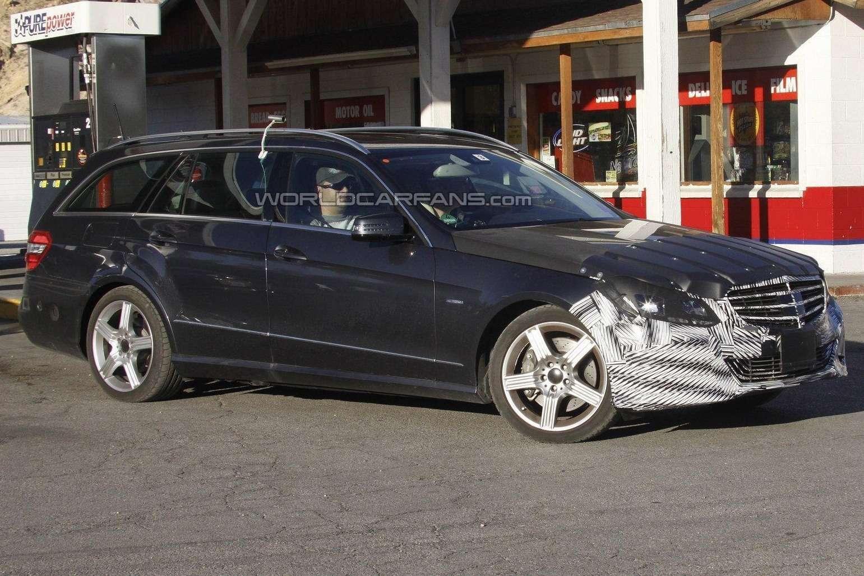 Mercedes-Benz E-class T-Model test prototype side-front view