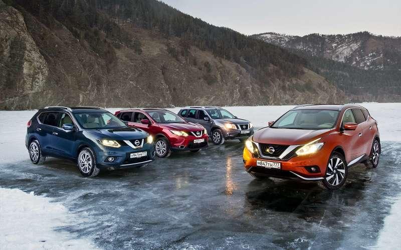 Кроссоверы ивнедорожники Nissan