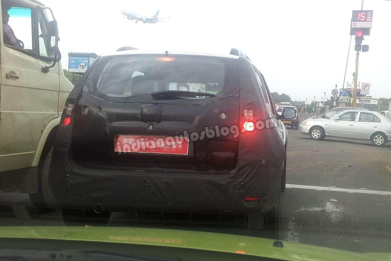 Nissan Terrano rear spied nocopyright