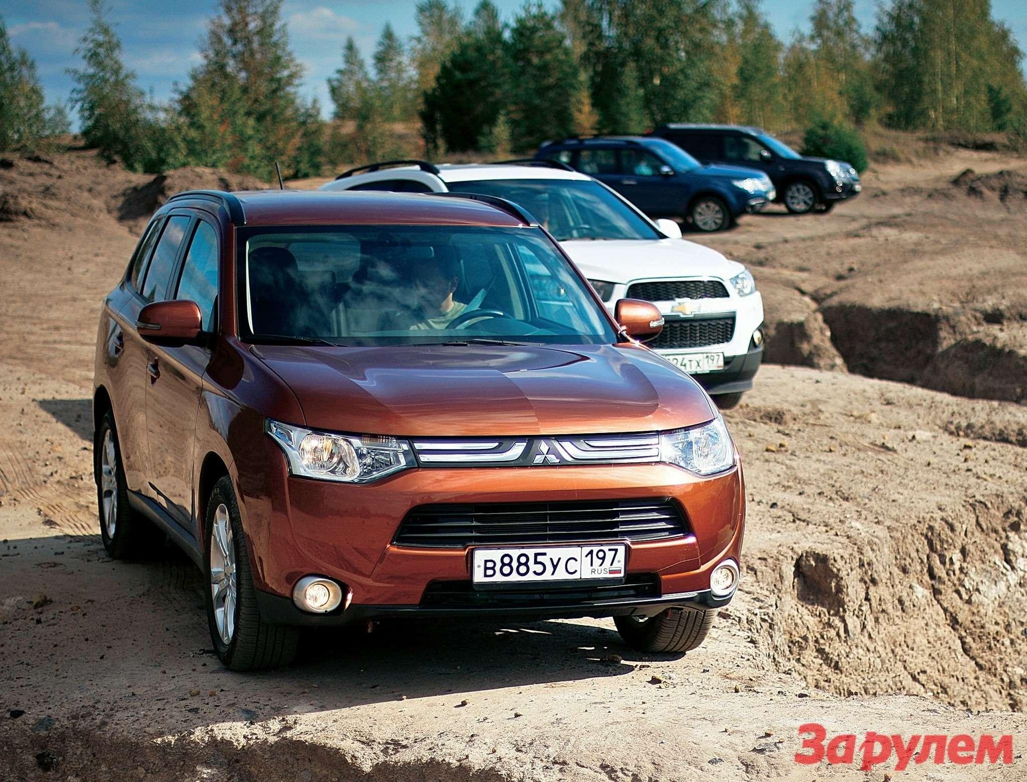 Subaru Forester, Chevrolet Captiva, Nissan XTrail, Mitsubishi Outlander