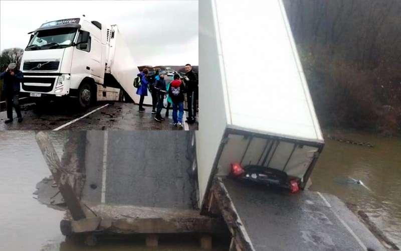 В Приморье подбольшегрузом рухнул автомобильный мост