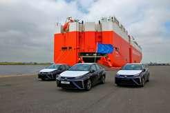 2015 Toyota Mirai вевропейском порту