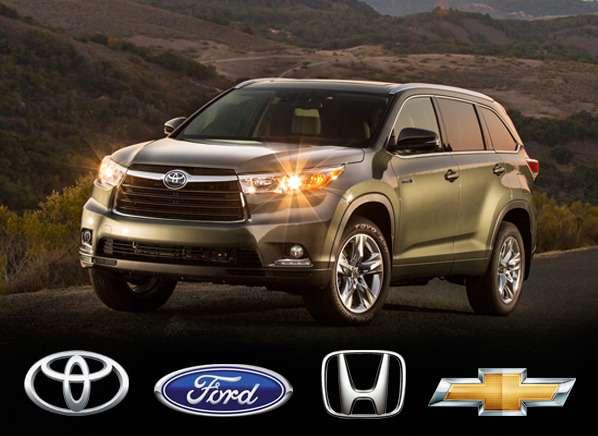 Американцы считают лучшими брендами Toyota, Ford, Honda, иChevrolet