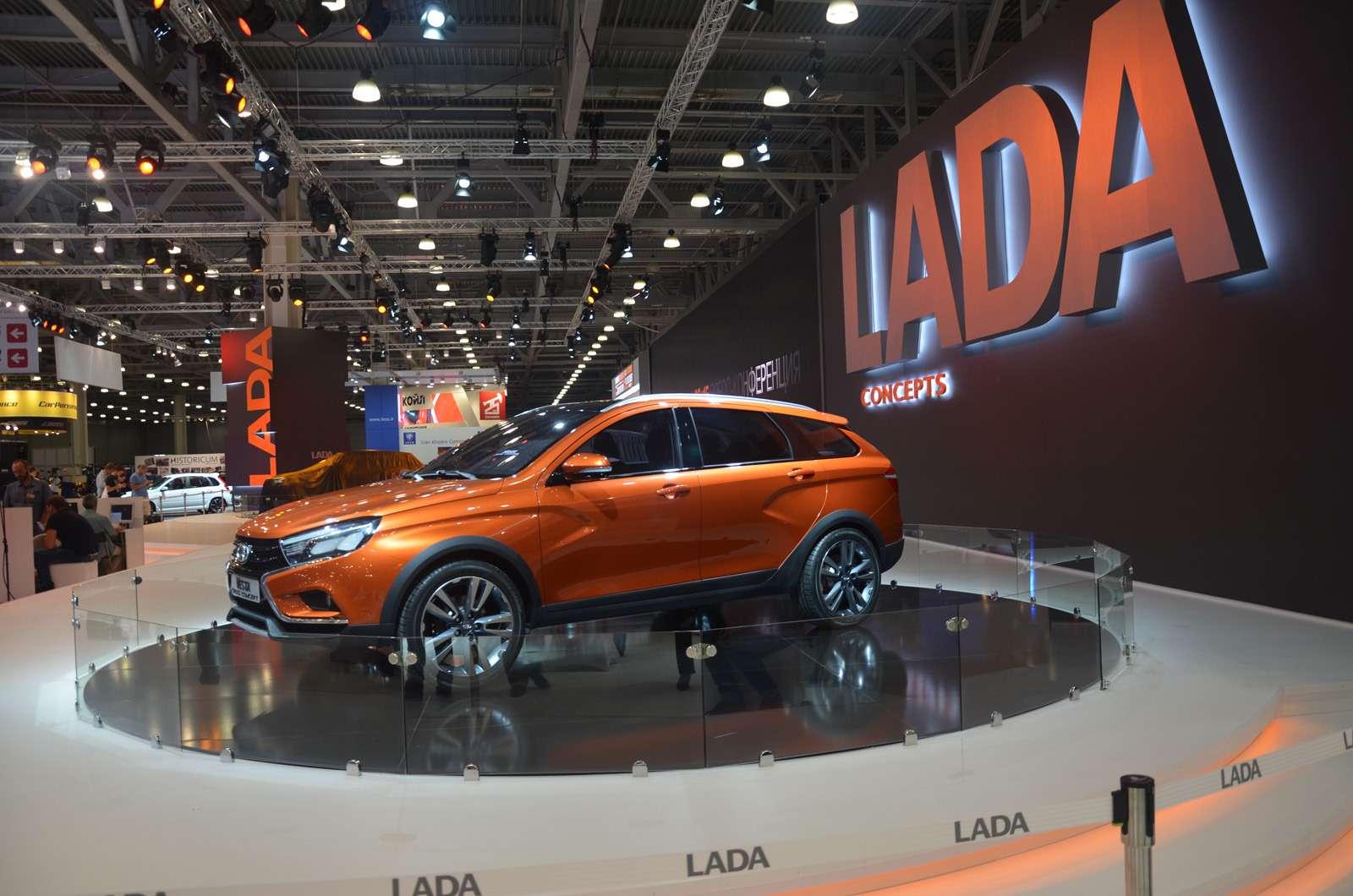 НаМосковский автосалон Lada въехала наXCODE— фото 623965