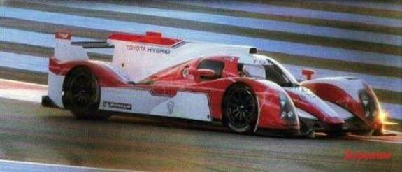 New Toyota LMP1 side-front view