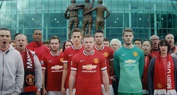 Логотип Chevrolet появится нафутболках клуба Manchester United