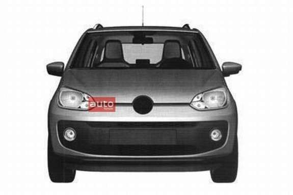 Five-door Volkswagen up! front view