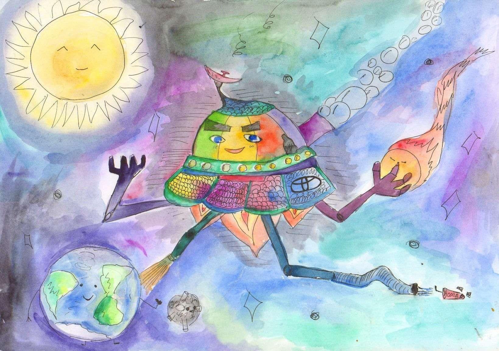 Дети нарисовали дляТойоты автомобили мечты— фото 728903