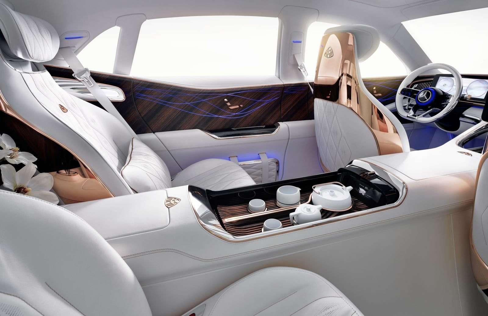 Кросс-седан Mercedes-Maybach Ultimate Luxury: золото, чайник, электричество— фото 865364