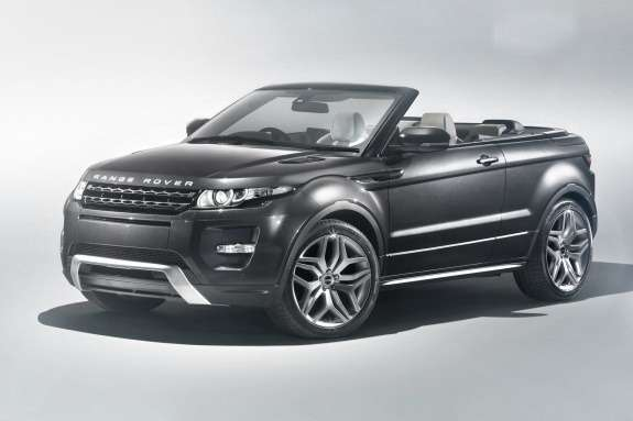 Land Rover Range Rover Evoque Convertible Concept side-front view