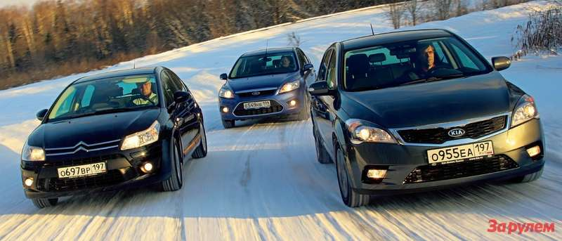 Citroen C4, Ford Focus, KIA Ceed