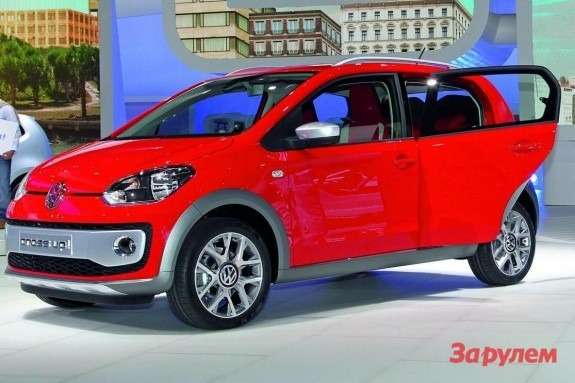 Volkswagen cross up! side-front view