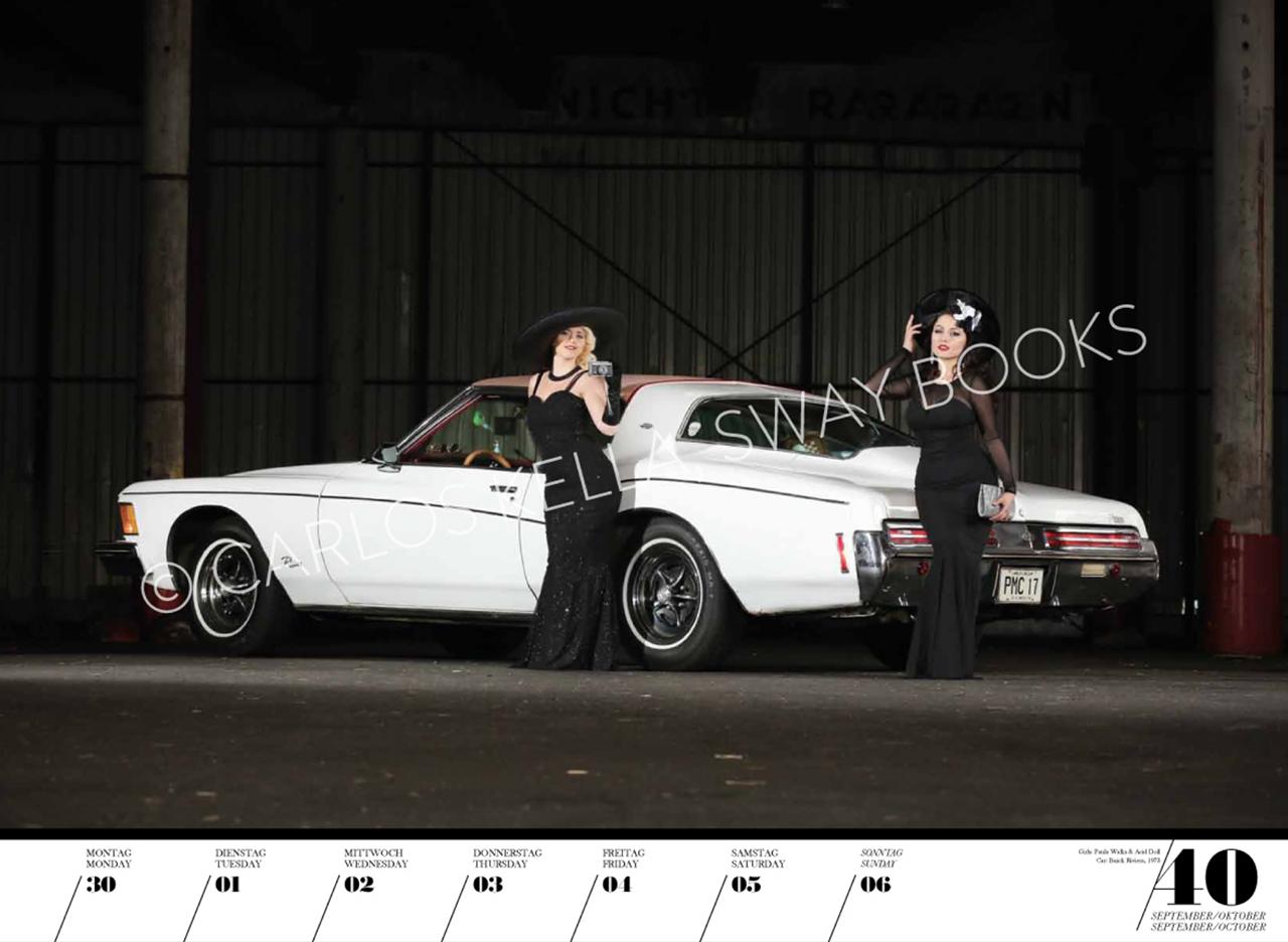 Очаровательные красотки иамериканские автомобили. Календарь 2019— фото 904623
