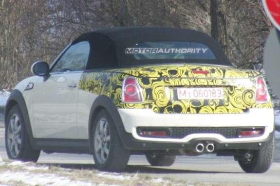 Mini Roadster spy shot rear view