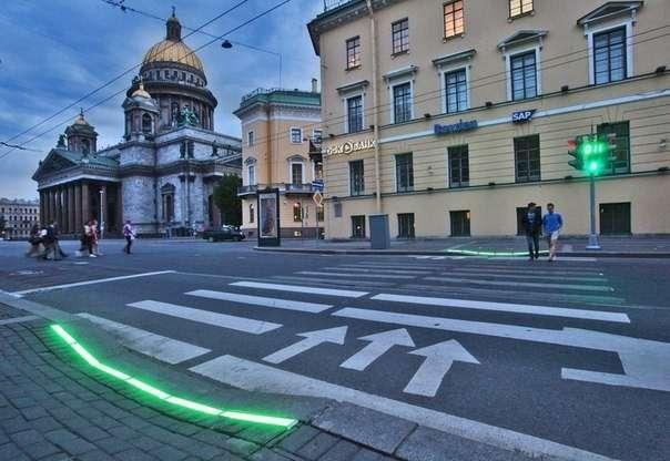 Наземные светодиодные светофоры дляпешеходов могут появиться вМоскве
