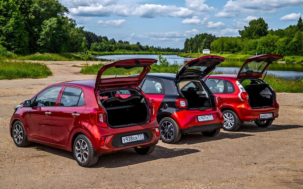 Большой тест маленьких хэтчбеков: Kia Picanto, Datsun mi-DO иSmart ForFour— фото 795996