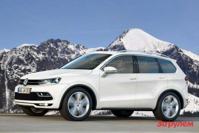 New Volkswagen B-SUV rendering side-front view