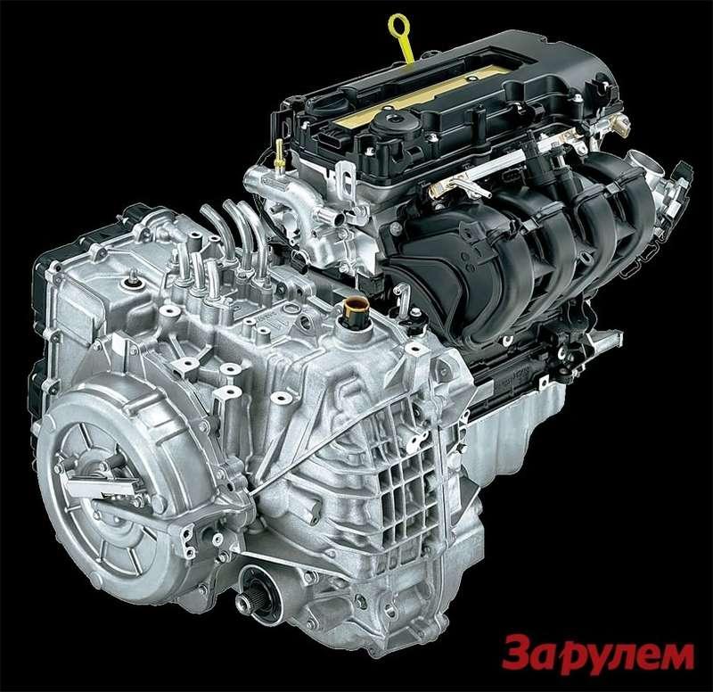 Силовой агрегат: бензиновый двигатель состыкован сэлектроприводом «Вольтек», основная часть которого— пара электромоторов суммарной мощностью 111 кВт. Один изних при работе ДВС служит генератором.