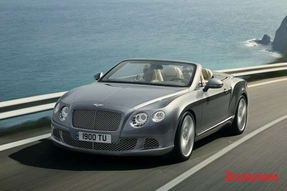 Bentley Continental GTC side-front view