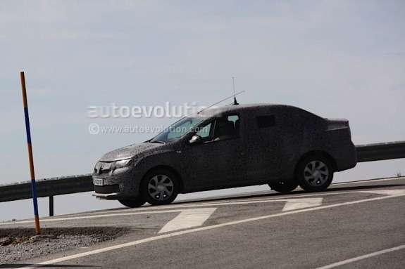 Next Dacia Logan test prototype side-front view