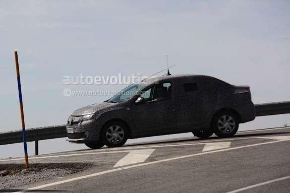 Next Dacia Logan test prototype side-front view
