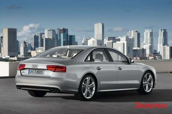 Audi S8 side-rear view