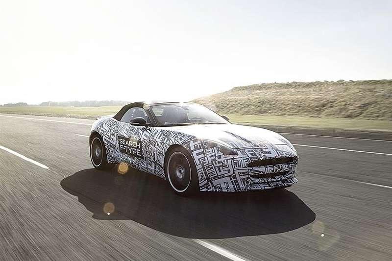 Jaguar F-type test prototype side-front view_no_copyright