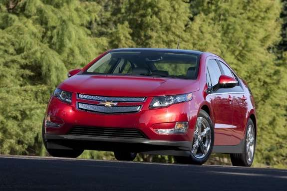 Chevrolet Volt side-front view