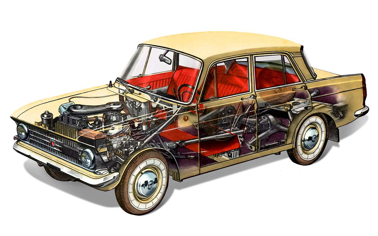 Fiat? BMW? Opel?— счего срисовали Москвич-408/412— фото 1083221