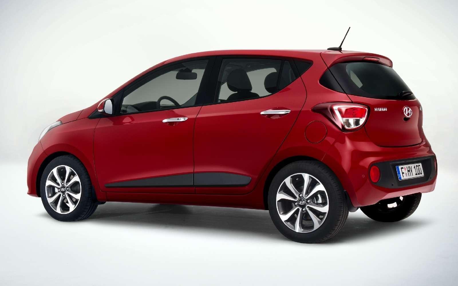 Hyundai представит вПариже рестайлинговый хэтчбек i10— фото 627741