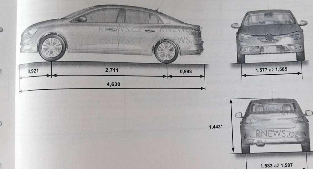 Седан Renault Megane раздувается отсобственной значимости— фото 602290