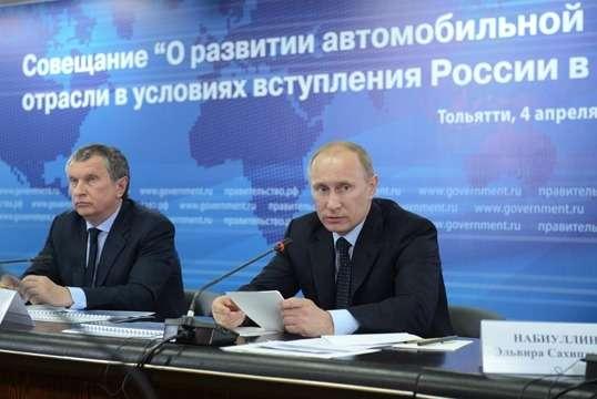 Владимир Путин иИгорь Сечин
