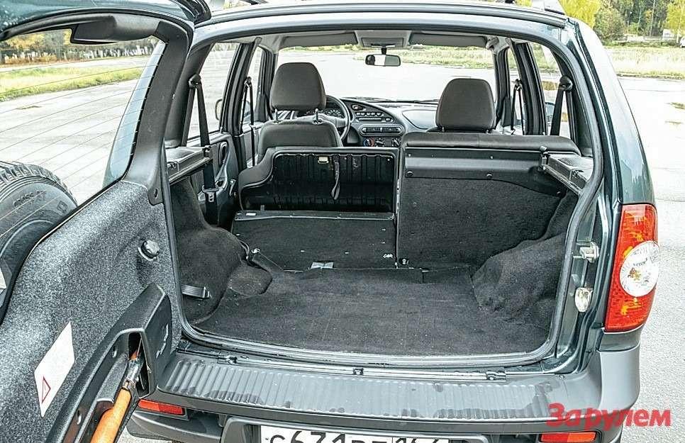 Объем багажника шевроле нива фото