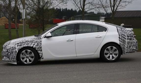 Facelifted Opel Insignia test prototype side view