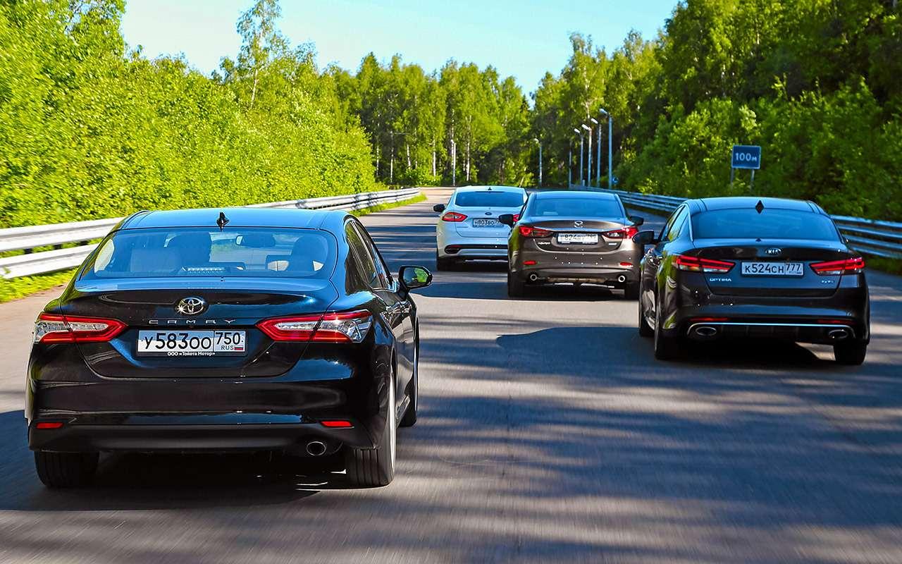 Toyota Camry против конкурентов— сравнительный тест— фото 882424