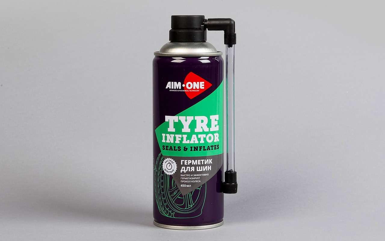 2. Aim One Tyre inflator TI-270, КНР. Герметик  для шин