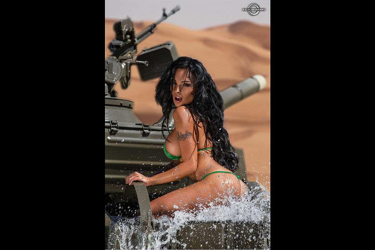 Патроны кончились: чешские танкистки разоружились иразделись— фото 814865