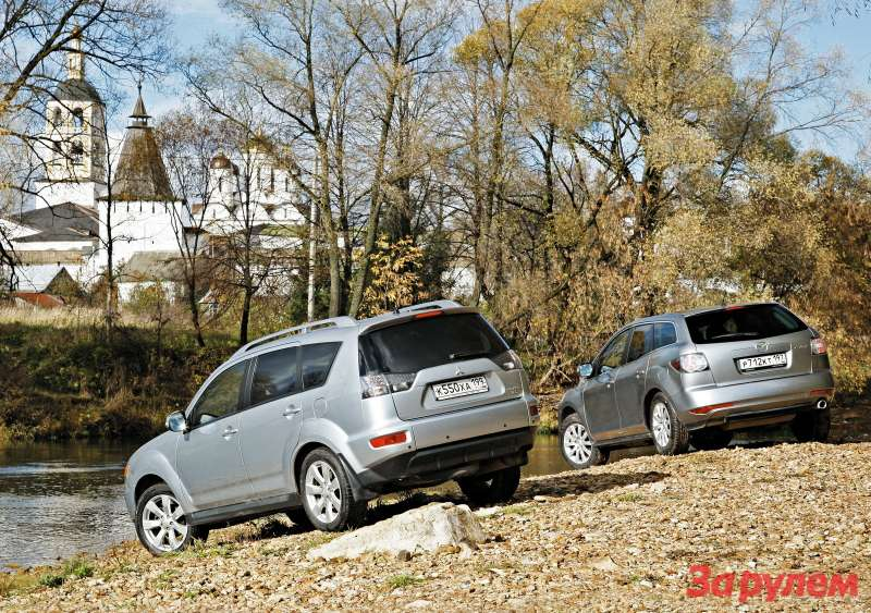 Mazda CX-7и Mitsubishi Outlander XL