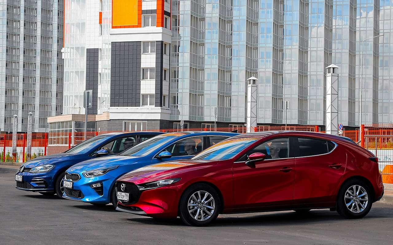 Новая Mazda 3, VWGolf иKia Ceed: большой тест— фото 1007197