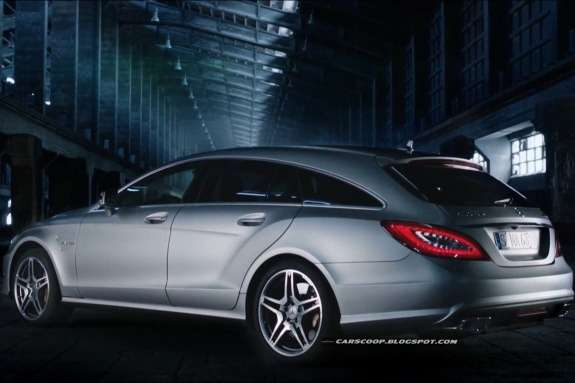 Mercedes-Benz CLS 63AMG Shooting Brake side-rear view