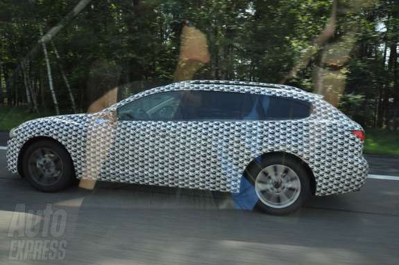 New Mazda6 station wagon test prototype side view
