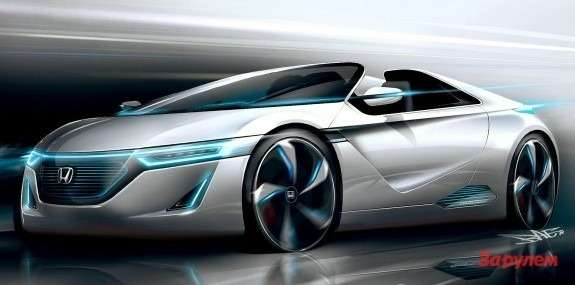 Honda Small Sports EV Concept sketch side-front view