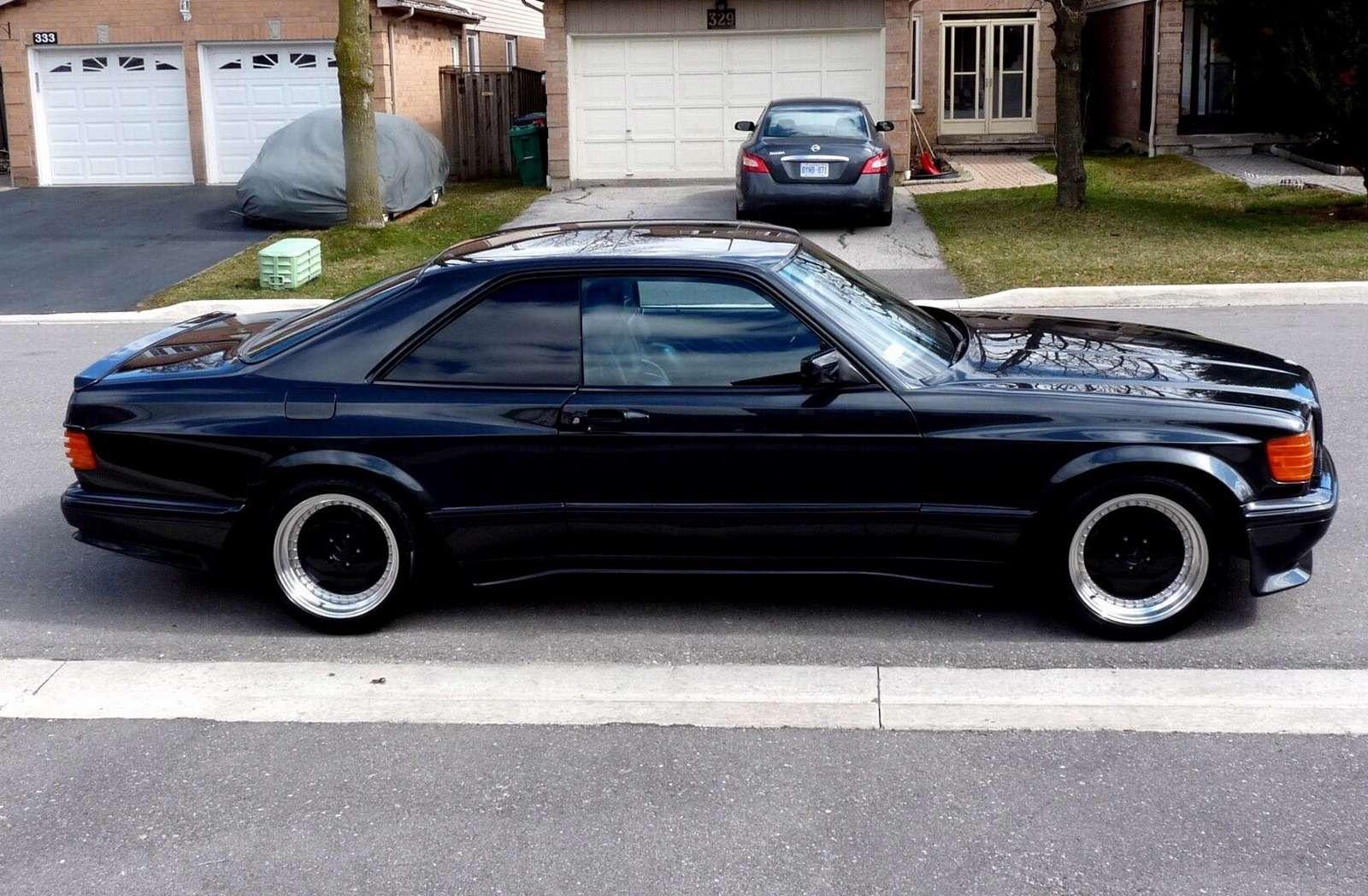 Полцарства законя: божественный Mercedes-Benz 560SEC 6.0AMG борозды неиспортит— фото 680595