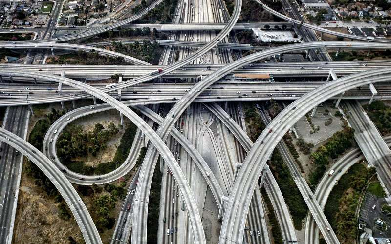 Judge Harry Pregerson Interchange, Лос-Анджелес, Калифорния, США.