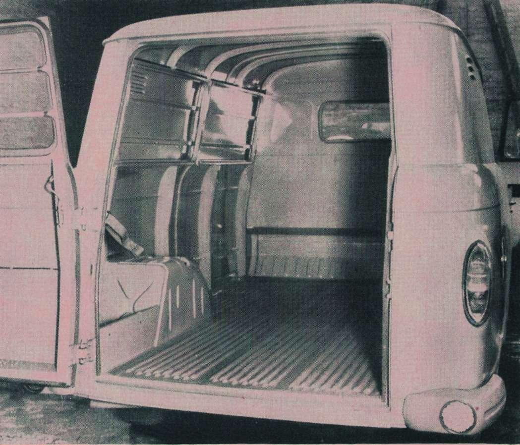 Автомобиль отличался вместительным грузовым отсеком сровным инизким полом. Его габарит: 2570х1676х1430мм, вместимость— 6,4 кубометра.